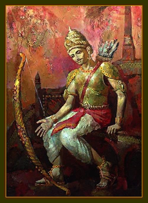 Arjuna sad