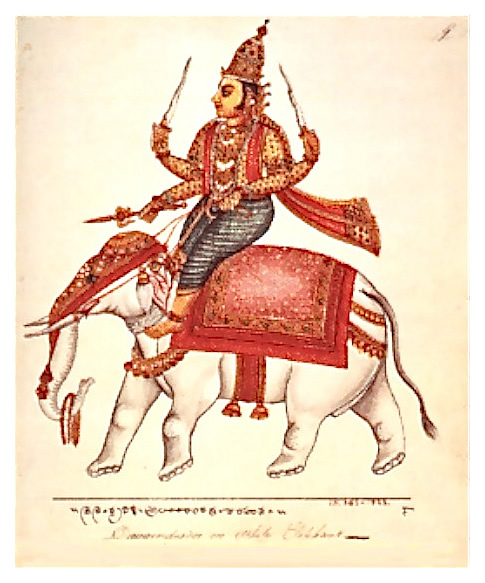 Indra on Iravati